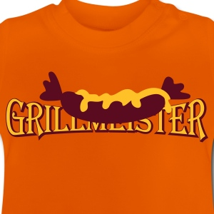Orange Wurst mit Senf / sausage with mustard (2c) Kinder T-Shirts - Baby T-Shirt