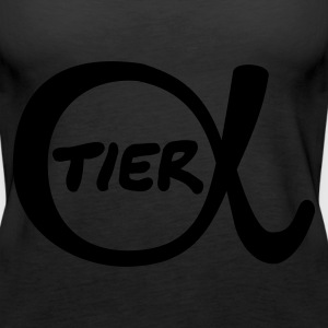 Schwarz Alpha-Tier Tops - Frauen Premium Tank Top