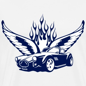 Weiß wings_at_car_ultramarin Tops - Men's Premium T-Shirt