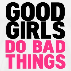 Blanc good girls do bad things Débardeurs - T-shirt Premium Homme