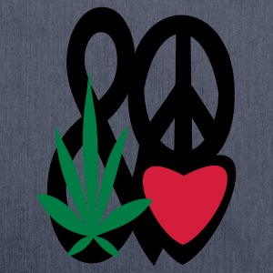 spaghetti top love peace and cannabis - Schultertasche aus Recycling-Material