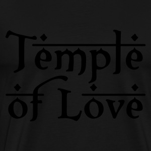 Schwarz TEMPLE OF LOVE Tops - Männer Premium T-Shirt