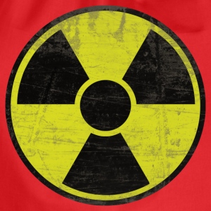Rosso Dirty Radioactive Sign Top - Sacca sportiva