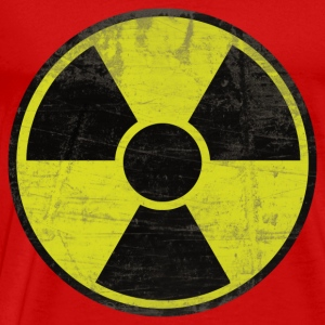 Red Dirty Radioactive Sign Tops - Men's Premium T-Shirt