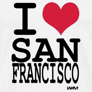 Weiß i love san francisco by wam Tops - Männer Premium T-Shirt