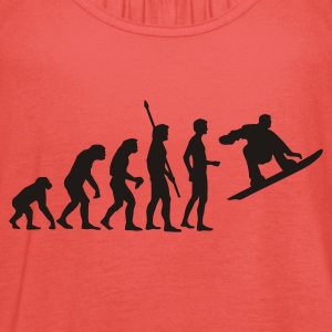 evolution_snowboard Shirts - Women's Tank Top by Bella