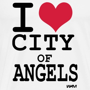 Weiß i love city of angels (los angeles)  by wam Tops - Männer Premium T-Shirt