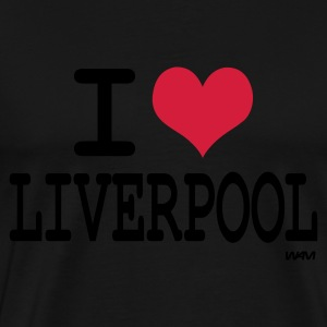 Black i love liverpool by wam Tops - Men's Premium T-Shirt