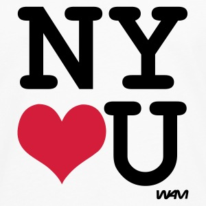 Blanc new york  loves you by wam Débardeurs - T-shirt manches longues Premium Homme