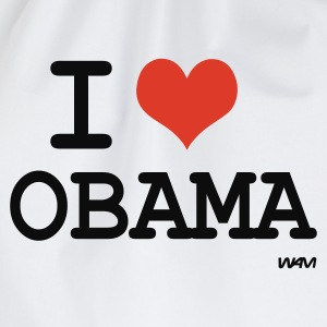 Bianco i love obama by wam Top - Sacca sportiva