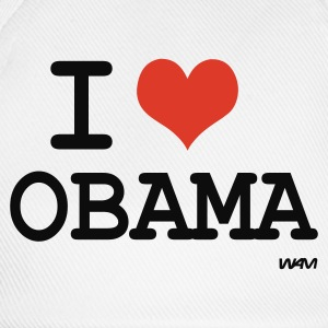 Bianco i love obama by wam Top - Cappello con visiera