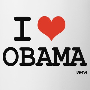Bianco i love obama by wam Top - Tazza