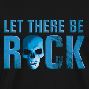 let_there_be_rock_skull_blue Toppe - Herre premium T-shirt