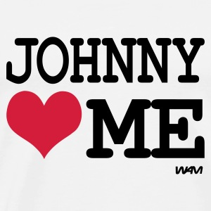 Weiß johnny  loves me Tops - Männer Premium T-Shirt