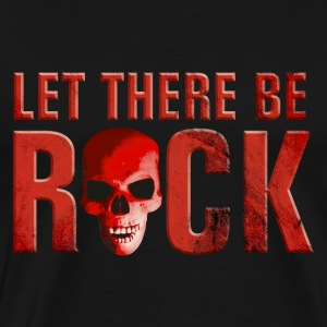 let_there_be_rock_skull_red Toppe - Herre premium T-shirt