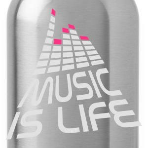 Nero music is life 3d I IT T-shirt - Borraccia