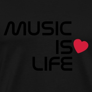 Svart music is life heart SE Toppar - Premium-T-shirt herr