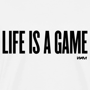 White life is a game by wam Tops - Men's Premium T-Shirt