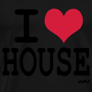 Svart i love house by wam Toppar - Premium-T-shirt herr