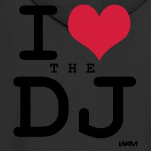 Black i love the dj by wam Tops - Men's Premium Hooded Jacket