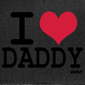 Zwart i love daddy by wam Tops - Snapback cap