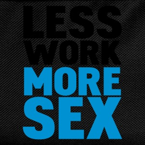 Svart less work more sex Topper - Ryggsekk for barn