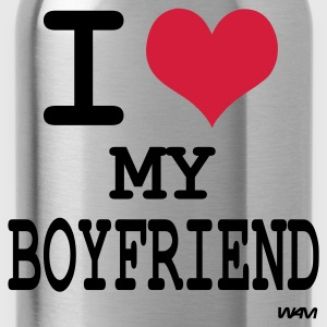 Zwart i love my boyfriend by wam Tops - Drinkfles