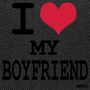 Zwart i love my boyfriend by wam Tops - Snapback cap