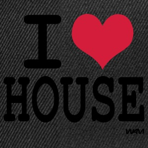 Svart i love house by wam Topper - Snapback-caps