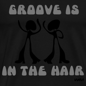 Svart groove is in the HAIR by wam Toppar - Premium-T-shirt herr
