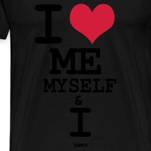 Svart i love me myself and i by wam Toppar - Premium-T-shirt herr