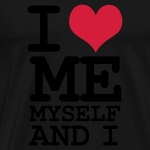Svart i love me myself and i Toppar - Premium-T-shirt herr
