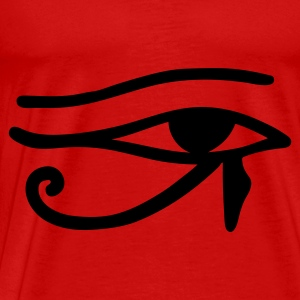 Red Eye of Horus Tops - Men's Premium T-Shirt
