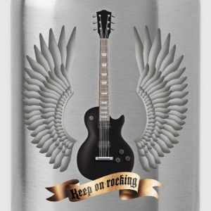 guitars_and_wings_black Tops - Water Bottle