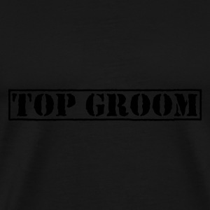 Olive Top Groom T-shirts - T-shirt Premium Homme