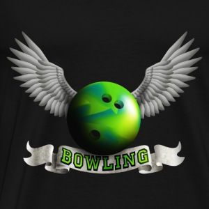 bowling_wings_a Tops - Men's Premium T-Shirt