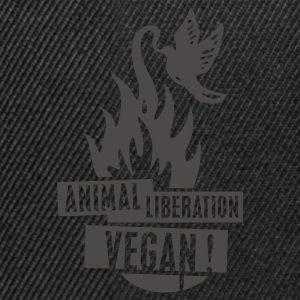 Womens Tank-Top 'animal liberation vegan' - Snapback Cap