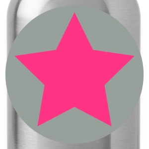 Zwart star circle Tops - Drinkfles