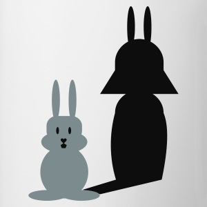 Hvid Hase Helmchen / bunny and the dark side (2c) T-shirts - Kop/krus