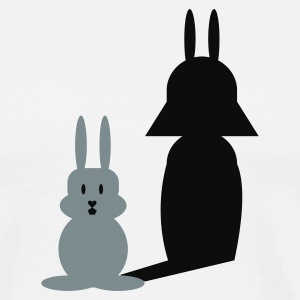 Vit Hase Helmchen / bunny and the dark side (2c) T-shirts - Premium-T-shirt herr
