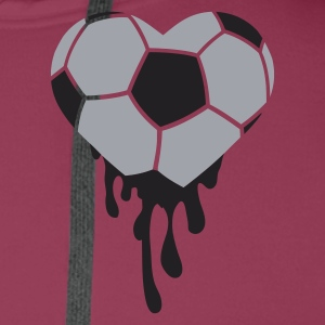 Pink bleeding heart for football Tops - Men's Premium Hoodie