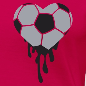 Pink bleeding heart for football Tops - Women's Premium T-Shirt