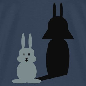 Turkis Hase Helmchen / bunny and the dark side (2c) Toppe - Herre premium T-shirt