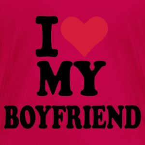 Pink I love my boyfriend Tops - Frauen Premium T-Shirt