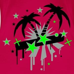 Pink Island Dreams Tops - Women's Premium T-Shirt