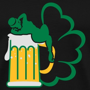 Black st patrick beer 'n girls (3c) Tops - Men's Premium T-Shirt