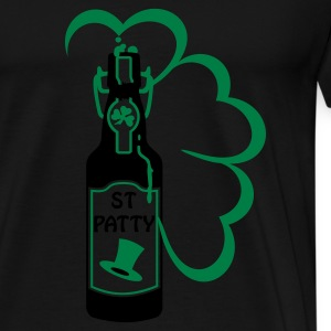 Black st patty bottle (2c) Tops - Men's Premium T-Shirt