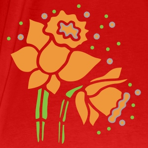 Red Lent lily [Narcissus] Tops - Men's Premium T-Shirt