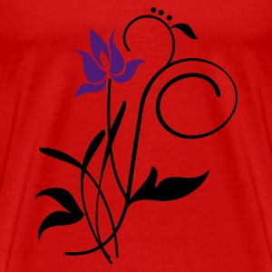 Rood Orchidee / orchid (2c) Tops - Mannen Premium T-shirt