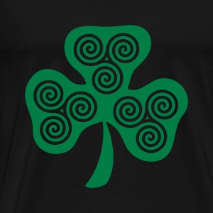Black Celtic triple spirals clover (1c) Tops - Men's Premium T-Shirt
